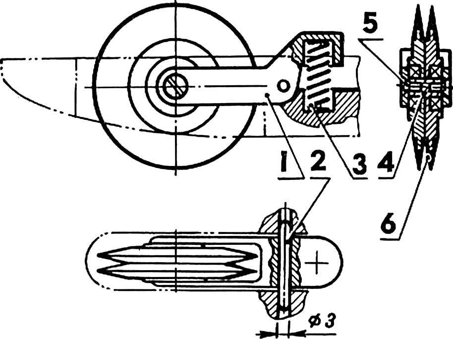 Рис. 8. Схема передней подвески.