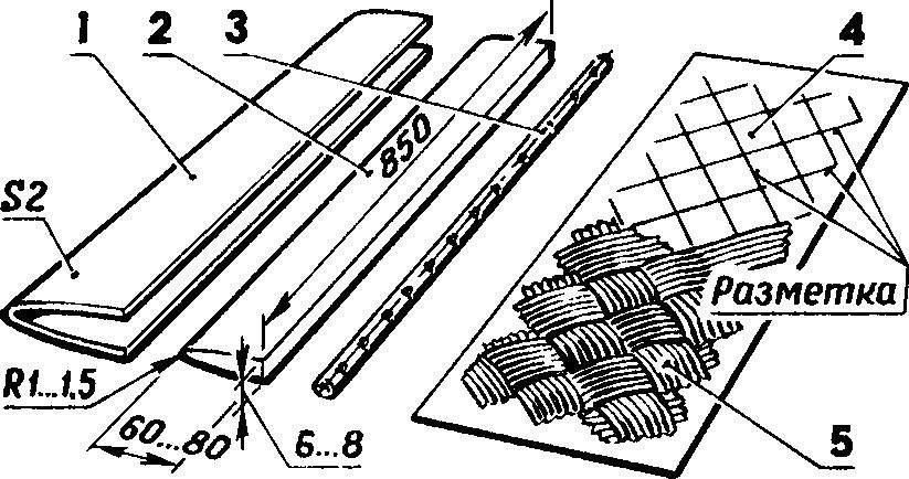 Рис. 2. Оснастка для формовки силовой оболочки лобика.
