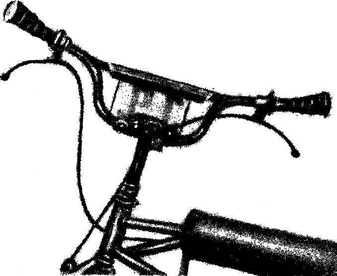 Так выглядит руль кроссового велосипеда.