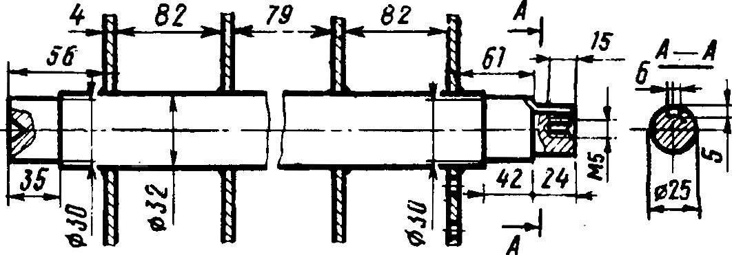Рис. 4. Вал в сборе (сталь 45).