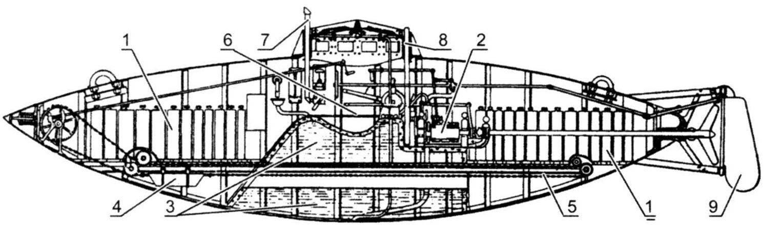 Подводная лодка С.К. Джевецкого образца 1881 г., переоборудованная в электроход в 1885 г. (четвёртый вариант)