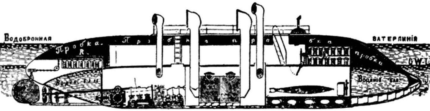 Подводный водобронный миноносец, 1892 г.