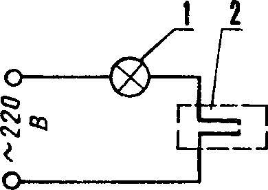 Рис. 2. Схема включения термодатчика для настройки.