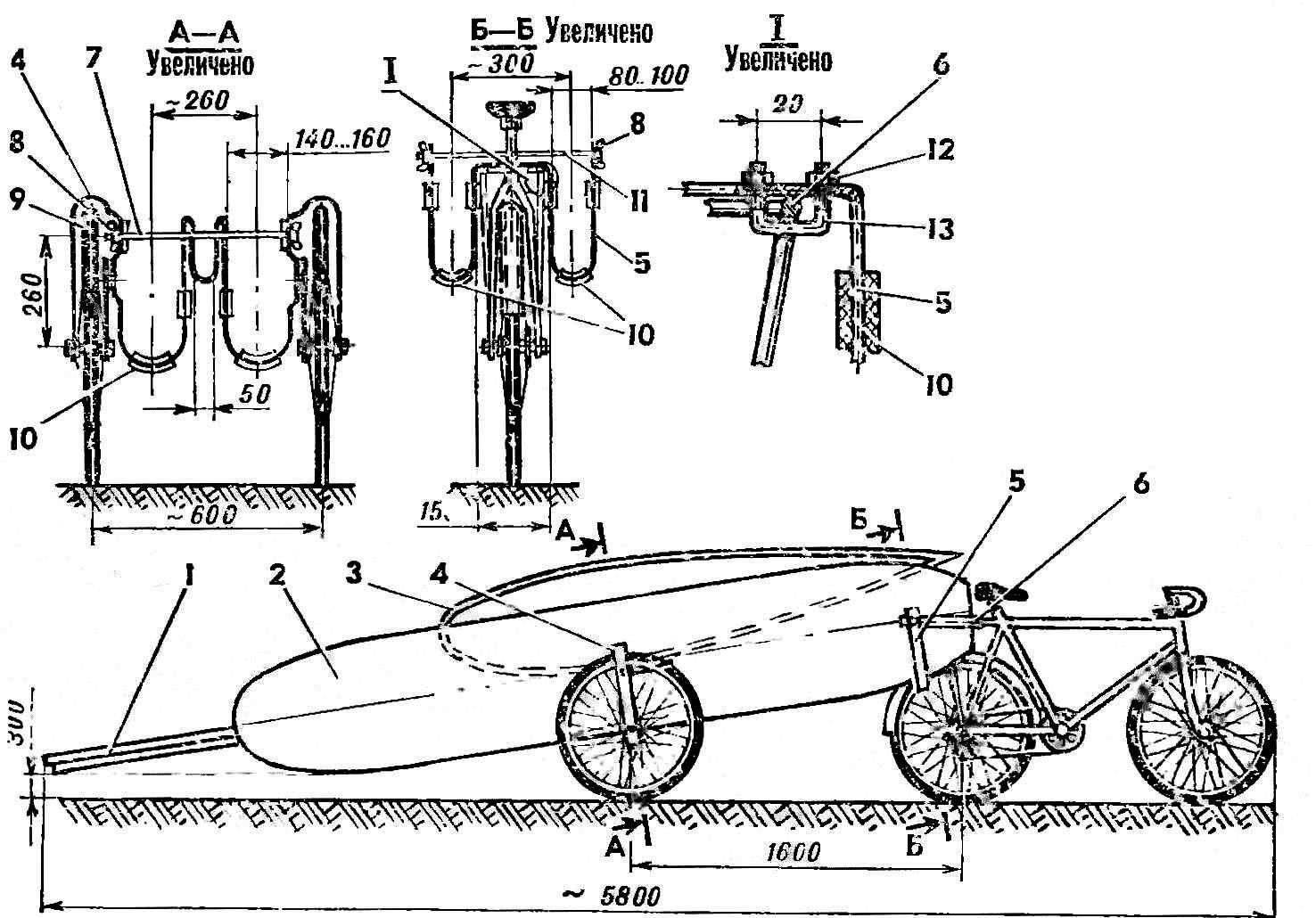 Велосипедная тележка для двух серферов