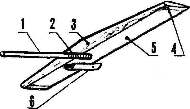 Рис. 6. Хвостовая часть модели.