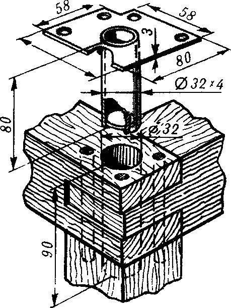 Рис. 4. Втулка-стакан основания дивана.