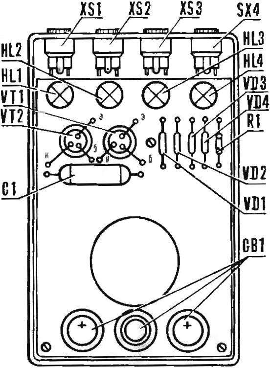 Рис. 3. Расположение элементов в корпусе прибора.