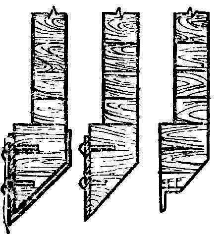 Рис. 2. Режущие ножи на нижнем венце сруба