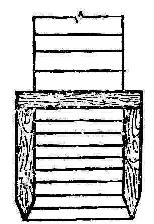 Рис. 3. Колокол или шатер в нижней части сруба