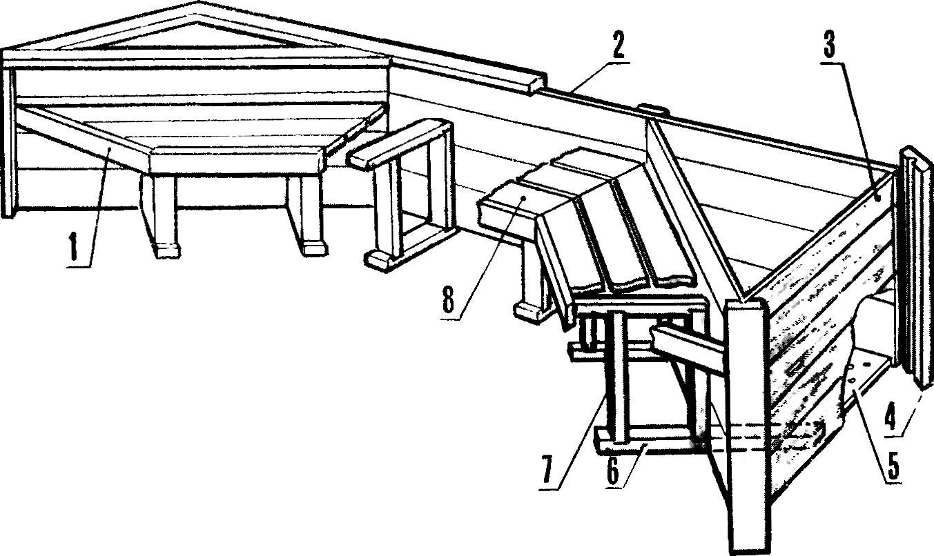 A horseshoe-shaped bench.