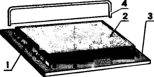 Рис. 2. Формирование рабочей поверхности пенопластовой «подкладки».