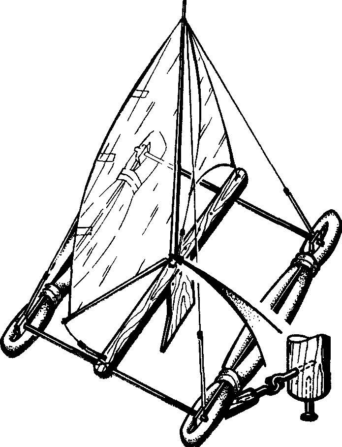 Рис. 3. Модель парусного катамарана в сборе.