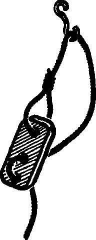 Рис. 4. Фигурная пластинка для регулировки натяжения гика-шкотов и вант.