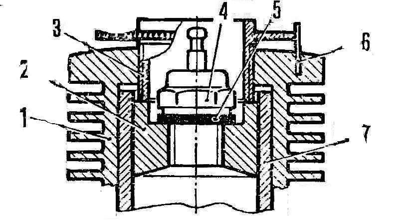 Схема переделки серийного микродвигателя из компрессионного варианта в калильный