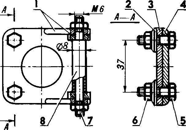 Схема сборки верхних фланцев.