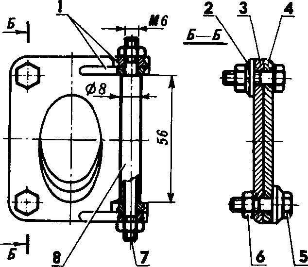 Схема сборки нижних фланцев.