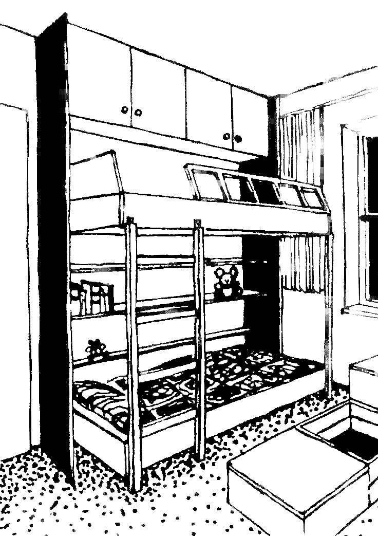 Стенка с двухэтажной «спальной».