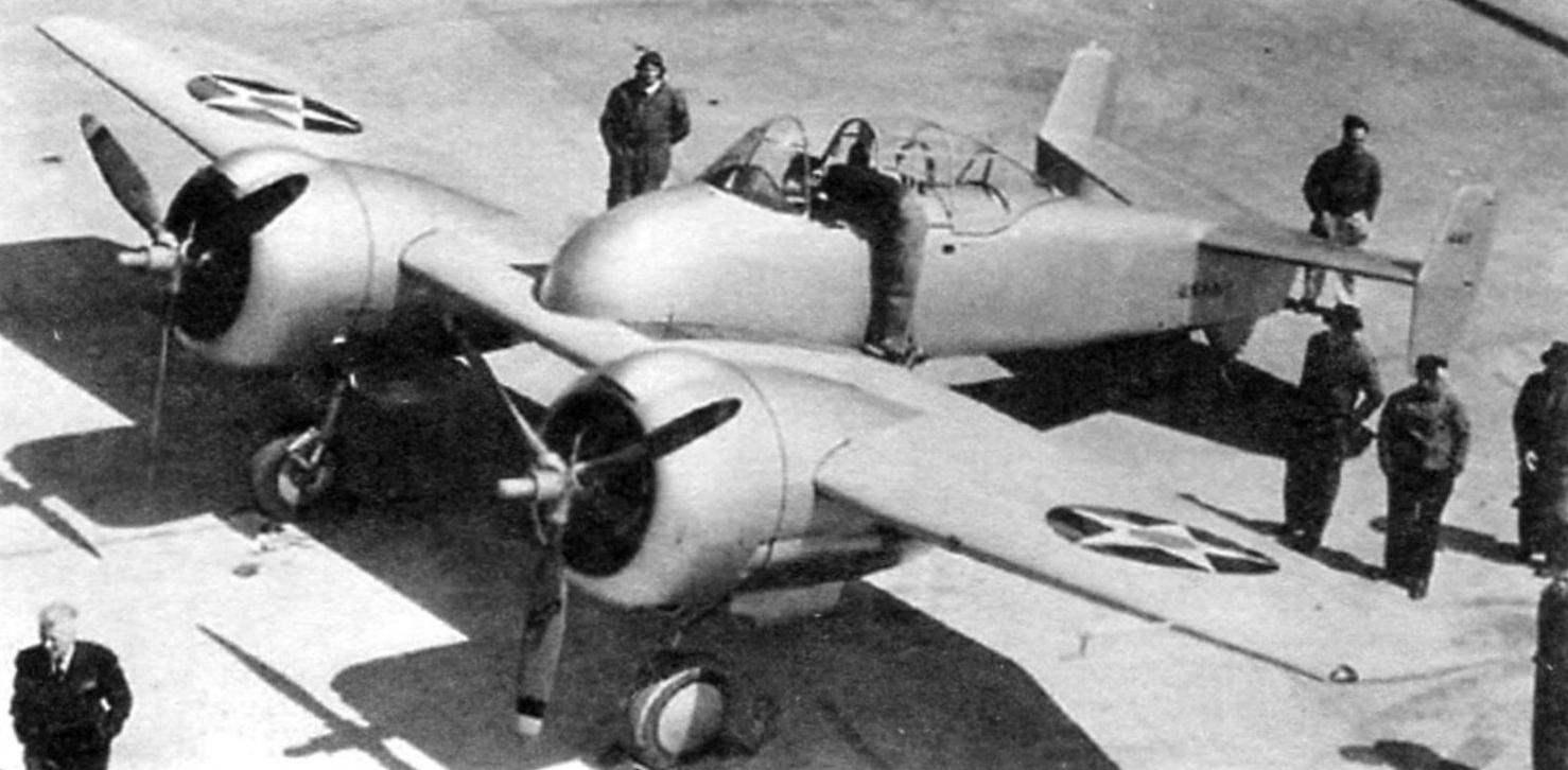 Опытный образец палубного истребителя XF5F-1