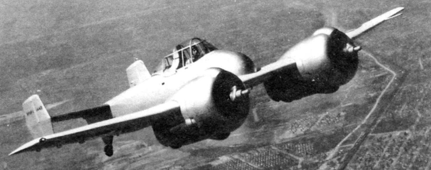 Истребитель XF5F-1 в полёте