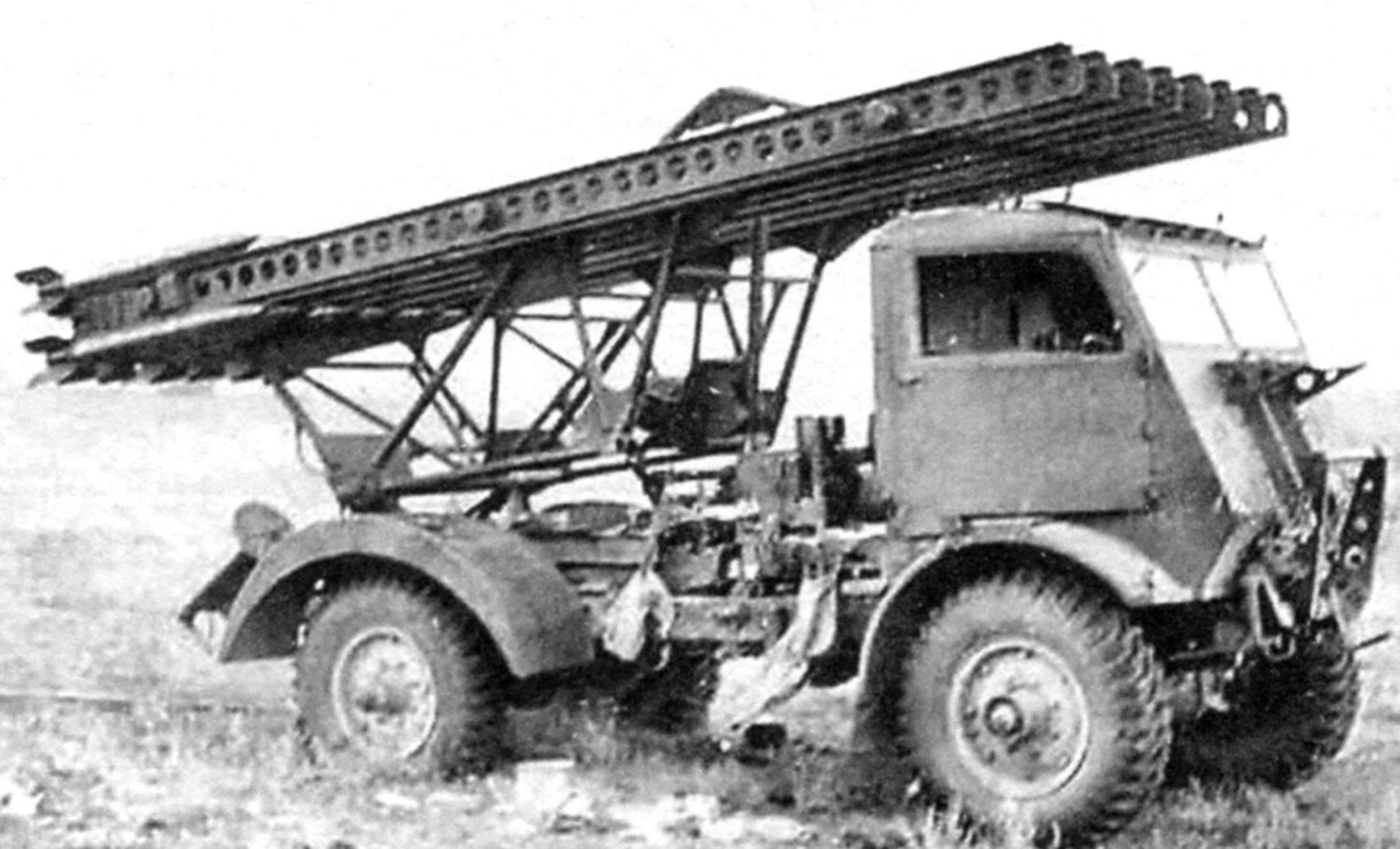 РСЗО М-13-16 на шасси «Фордзон» WОТ8 30-сwt (1.5-tоn), 4x4