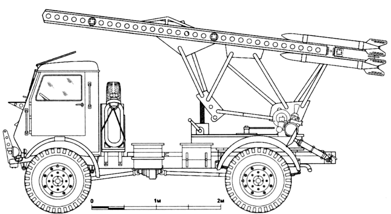 MLRS M-13-16 chassis