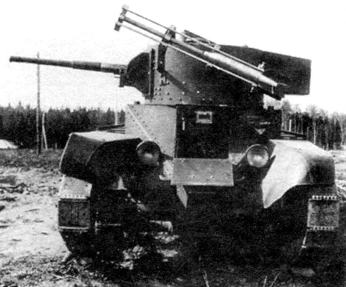 Экспериментальная установка М-8 на танке