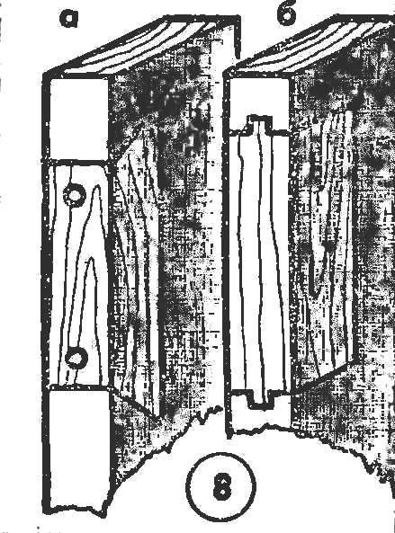 Рис. 8. Ремонт брусков коробни для креплення замка