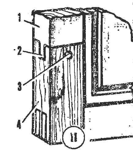 Рис. 11. Ремонт угла дверной обвязки