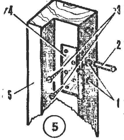 Рис. 5. Установив поперечных дюбелей под шурупы