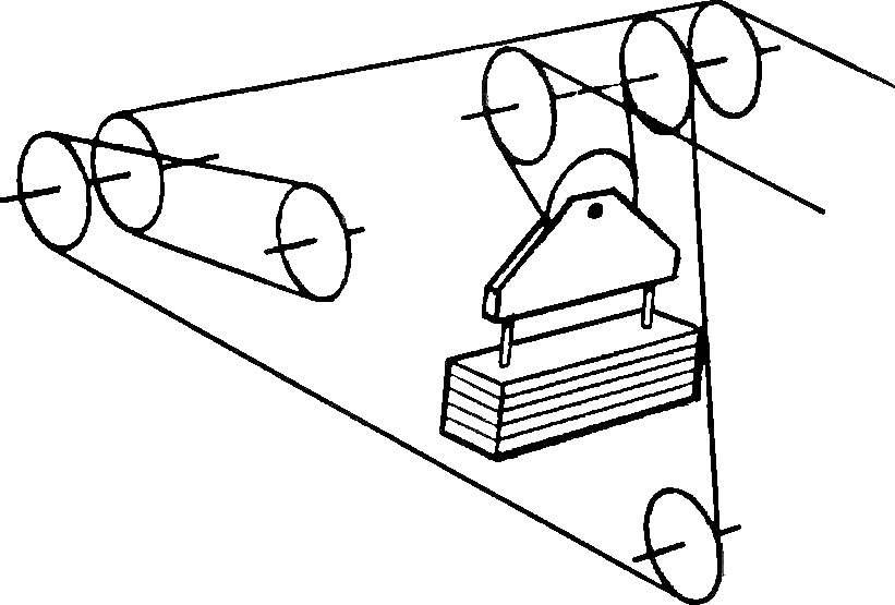 Схема запасовки троса.