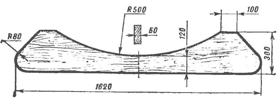 Рис. 5. Декоративная доска (полка)