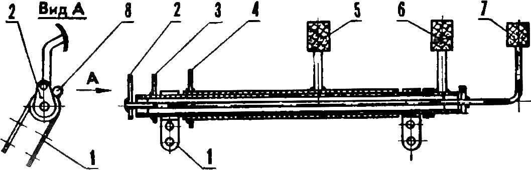 Схема педального вала.