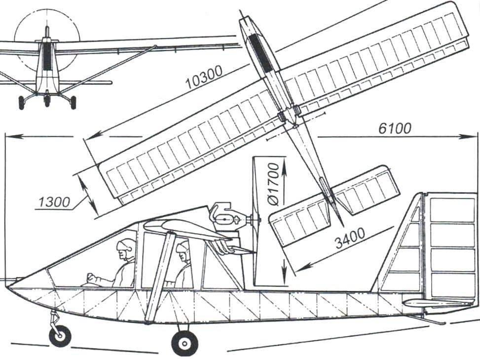 Двухместный самолёт «Чибис»