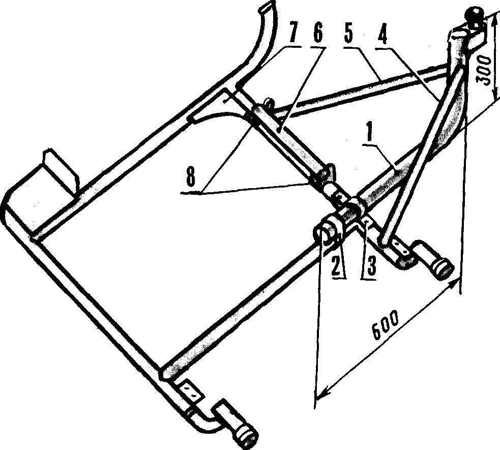 Доработка рамы бокового прицепа мотоцикла.