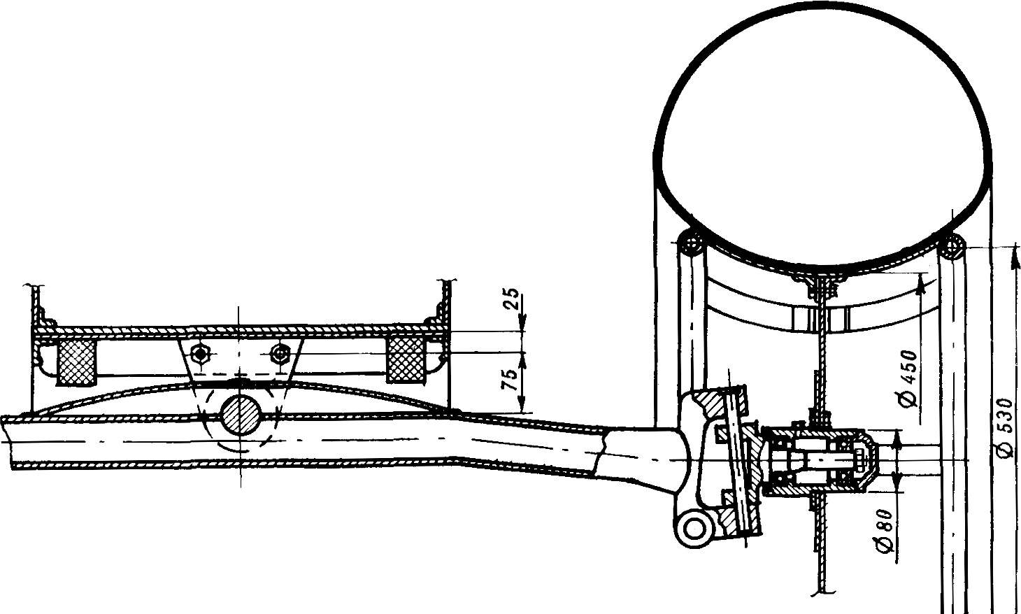Fig. 8. The front axle of the vehicle.