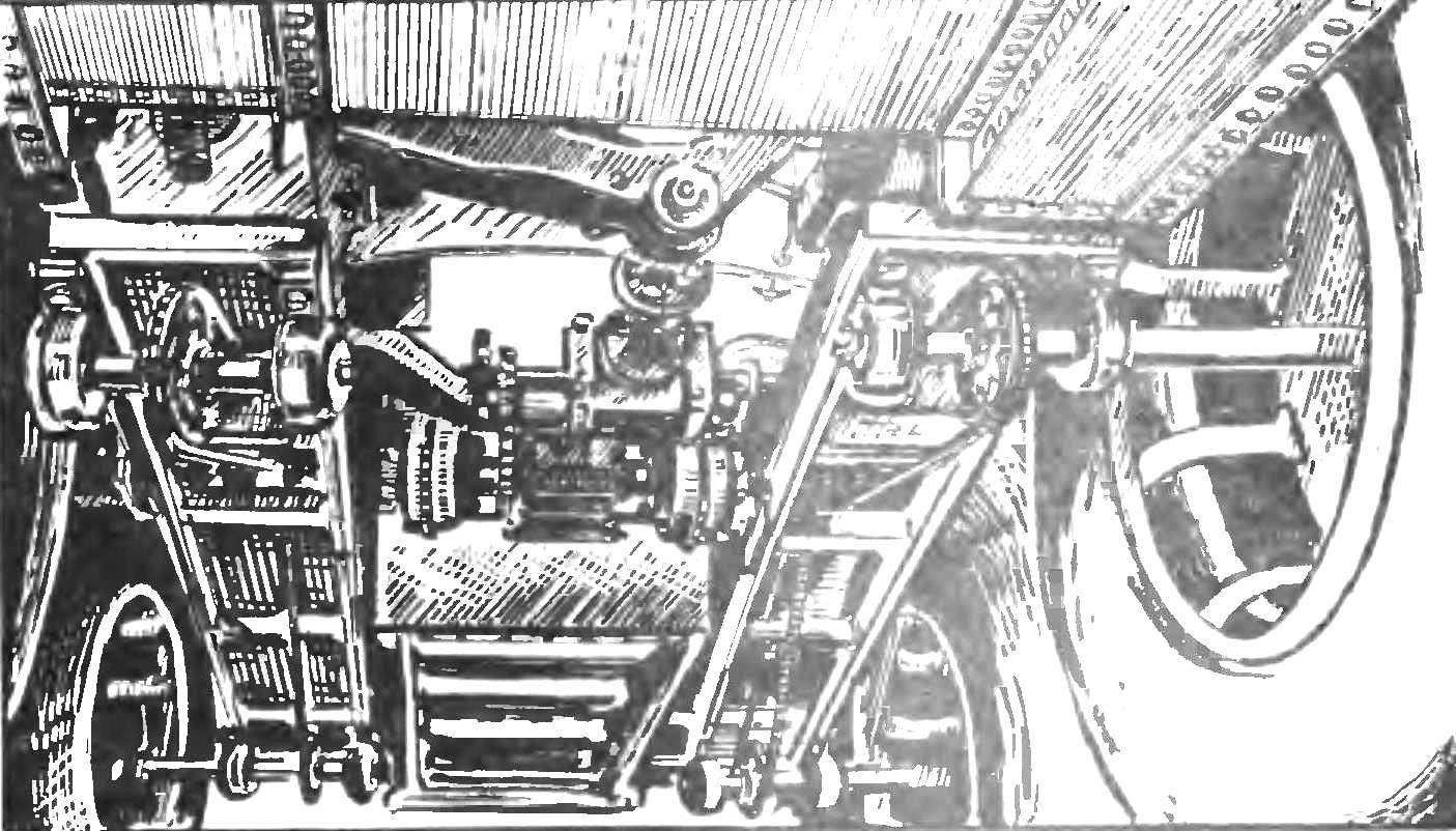 Transmission of the vehicle.