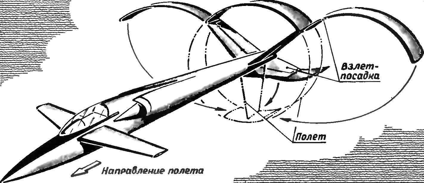 «Утка» с крылом изменяемой геометрии.