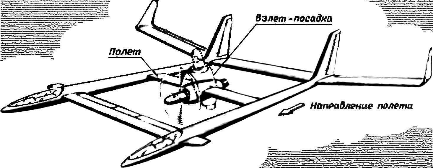 «Утка» с укороченными взлетом-посадкой и поворотной силовой установкой.