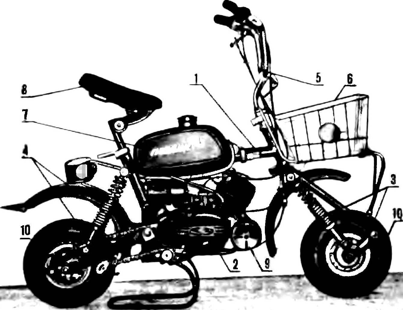 Общий вид микромотоцикла «Гномик».