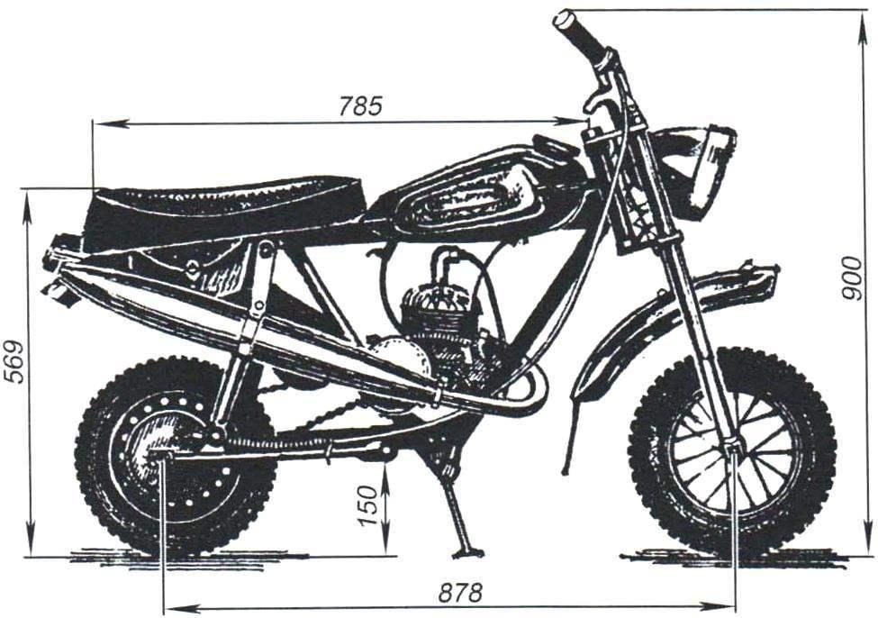 Общий вид микромотоцикла