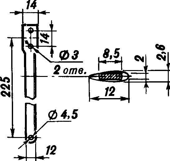 Рис. 5. Кордовая планка (Д16Т).