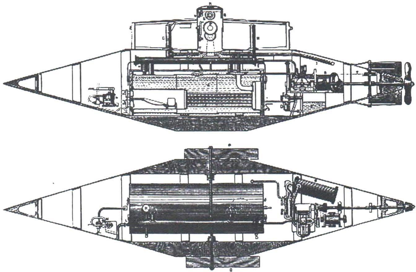 Подводная лодка «Рисорджем-2» конструкции Гэррета, Англия, 1879 г.