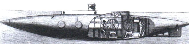 Подводная лодка Эша и Кэмпбелла, Англия, 1886 г.