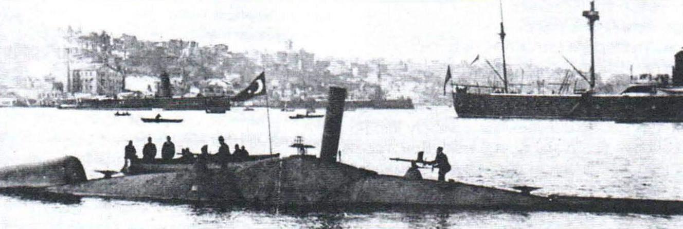 Подводная лодка «Абдул Гамид» («Норденфельд-2») конструкции Гэррета, Англия, 1886 г.
