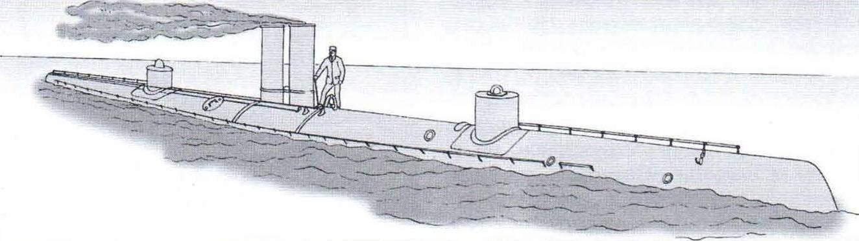 Подводная лодка «Норденфельд-3» конструкции Гэррета, Англия, 1887 г.