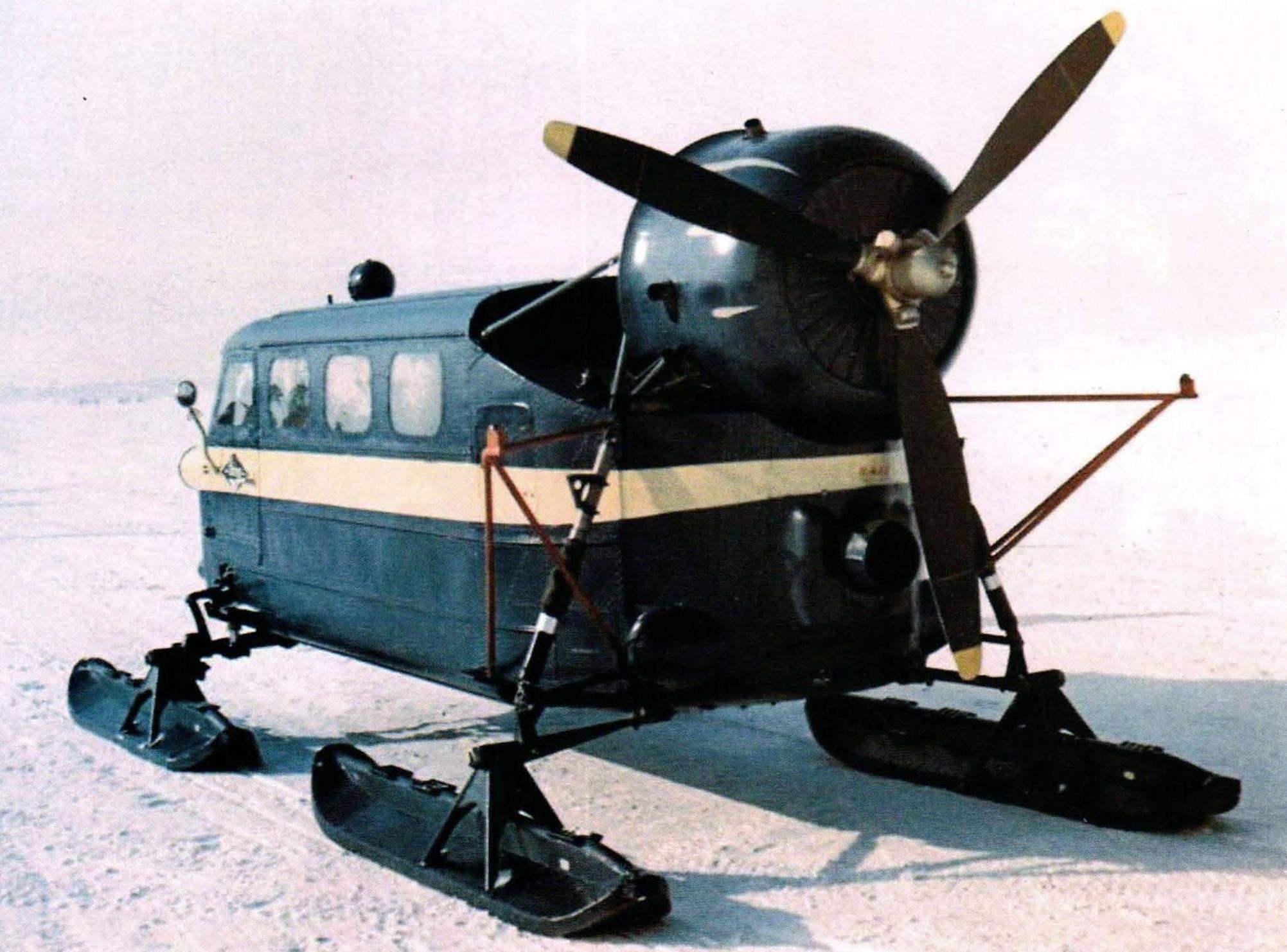 Ka-30 - ten-chetyrehlistnyj utility snowmobile