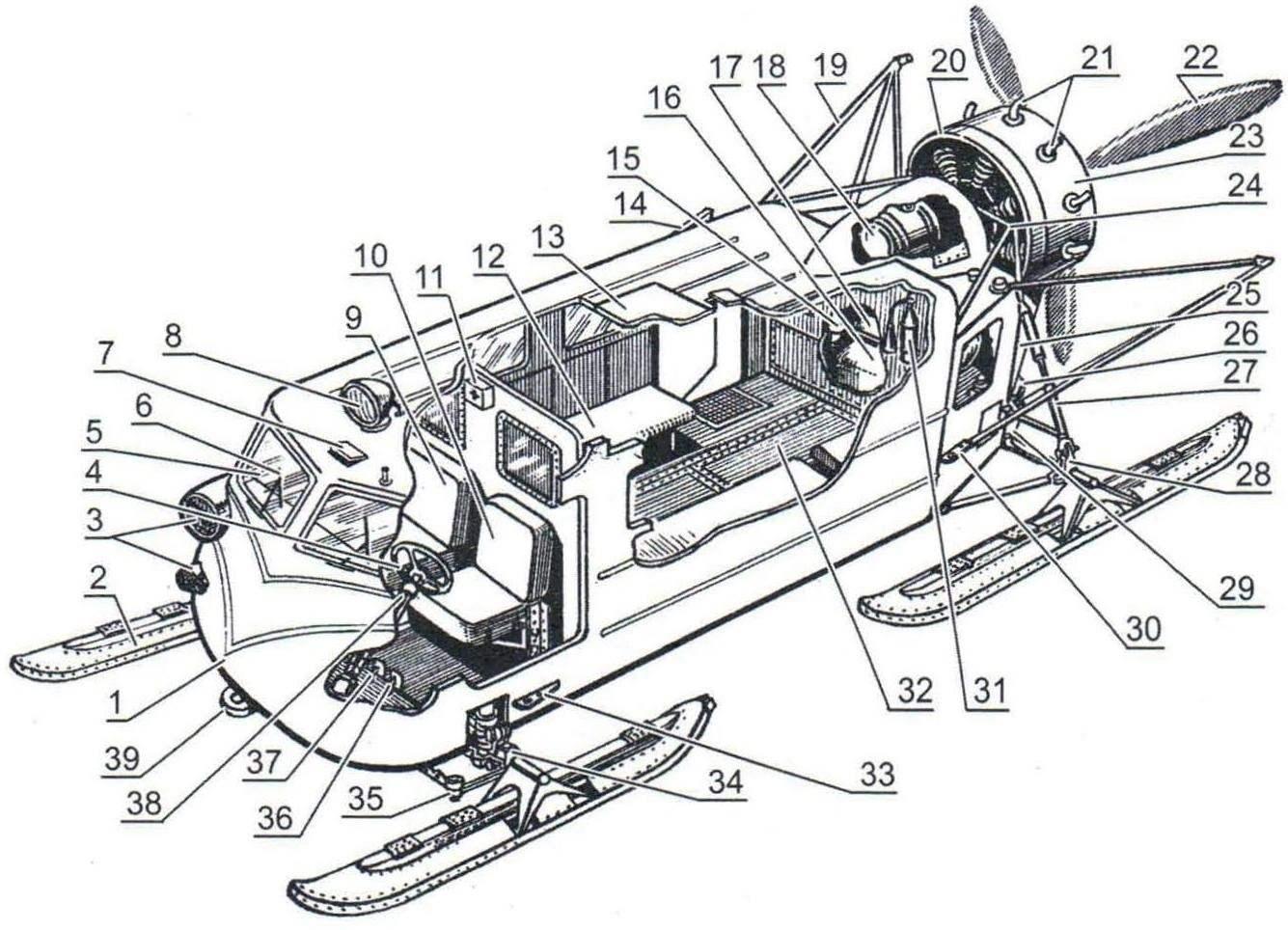 Компоновка аэросаней Ка-30
