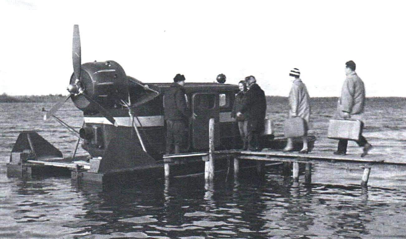 Летний вариант аэросаней - речной аэрокатамаран