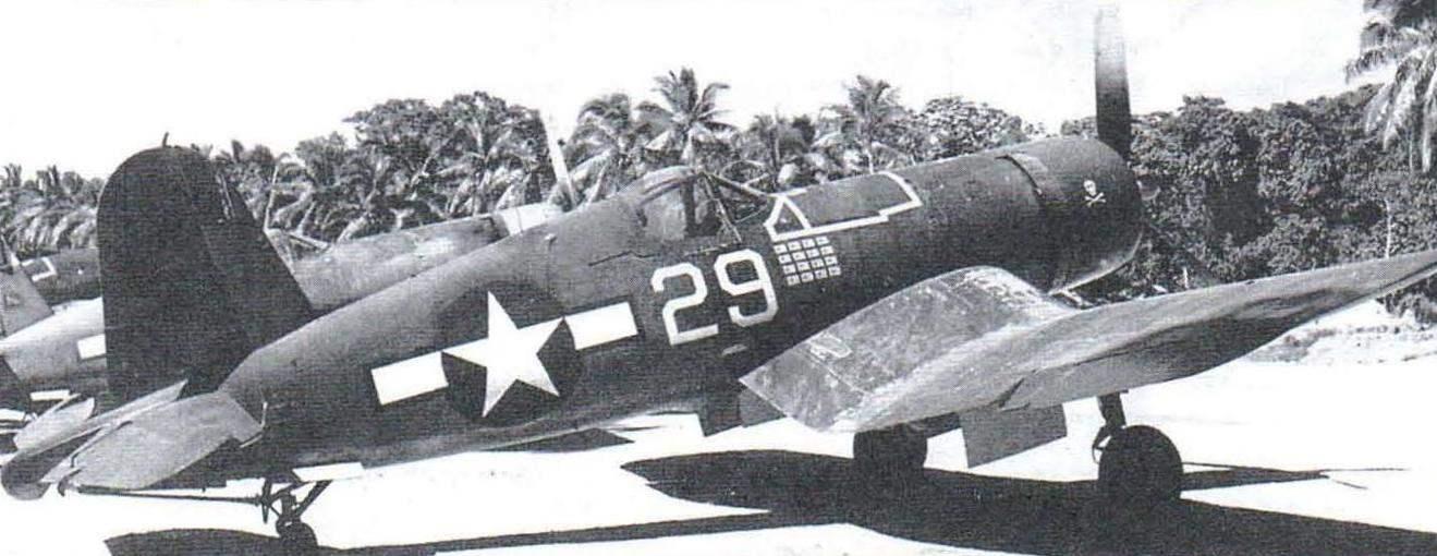 F4U-1 лётчика Айры Кипфорда из эскадрильи VF-17