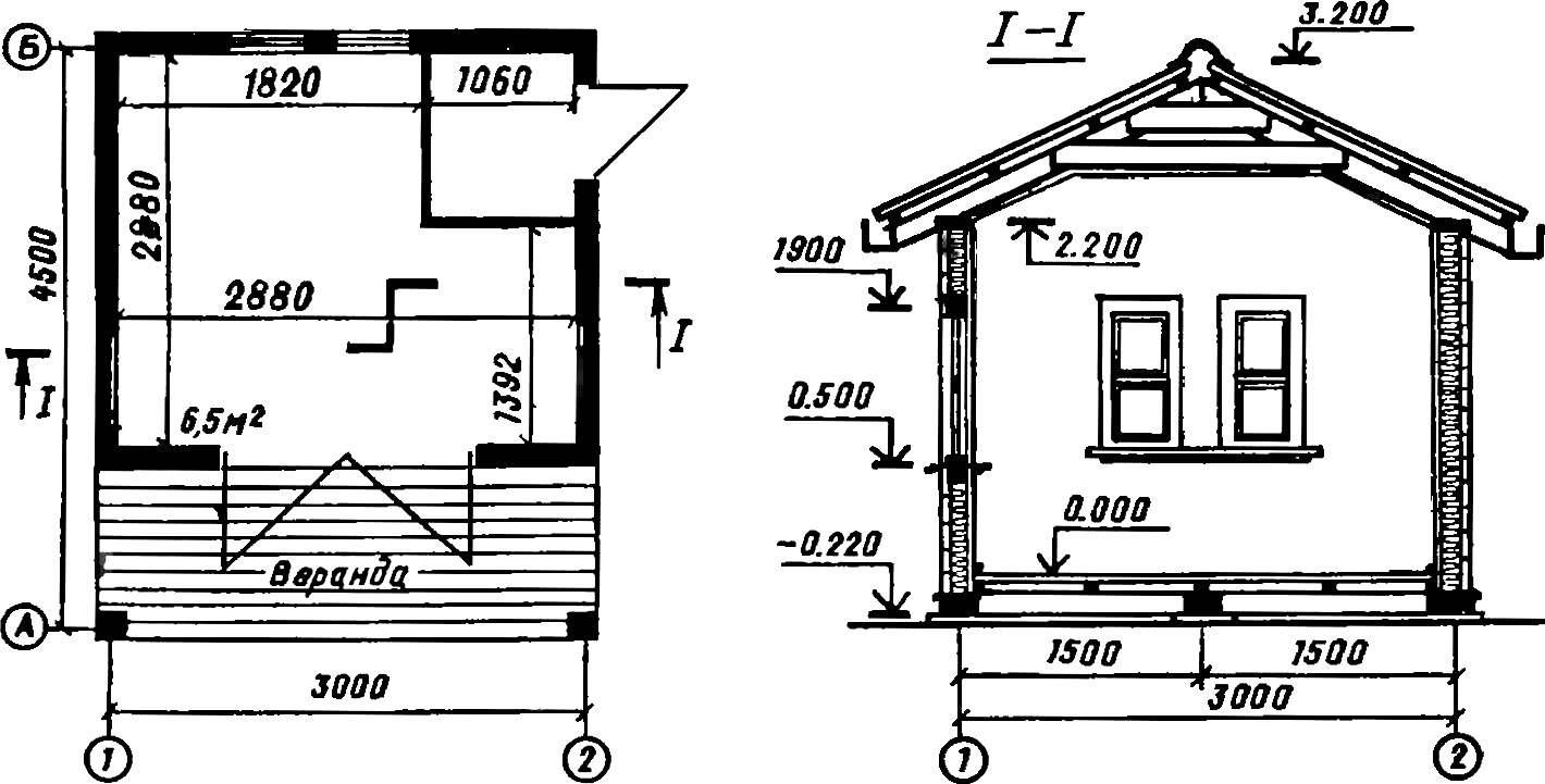 Домик на даче своими руками чертежи схемы 993